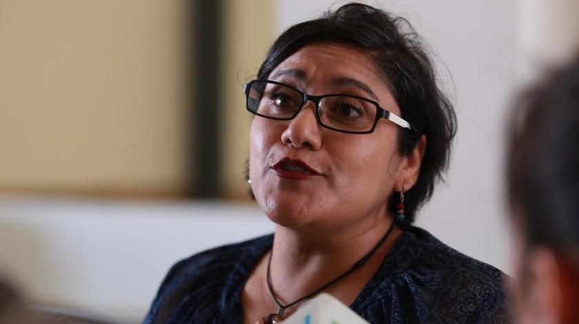 Yara Amparo López, coordinadora estatal del Programa Binacional de Educación Migrante.(Archivo)