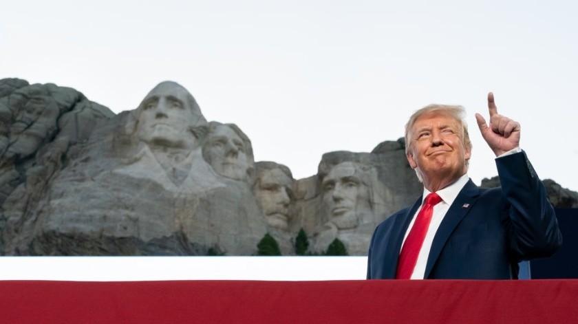 """Buena idea estar en el Monte Rushmore por """"muchas cosas que logré en mis primeros tres años y medio"""": Trump(Twitter @realDonaldTrump)"""