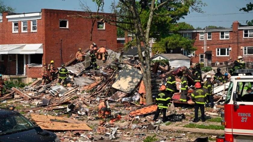 Un muerto y dos heridos tras explosión de gas en Baltimore, Estados Unidos(AP)