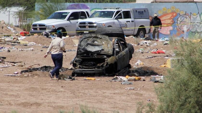 Queman cadáver al sur de Mexicali(Daniel Resendiz)