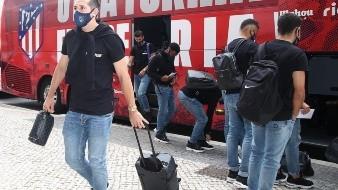 Héctor Herrera y el Atlético de Madrid llegan a Lisboa listos para jugar Champions