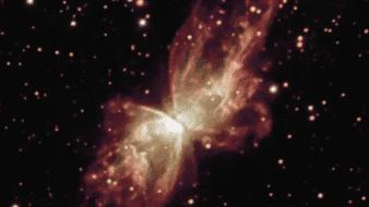 """La NASA capta imágenes sobre la extraña """"mariposa espacial"""""""