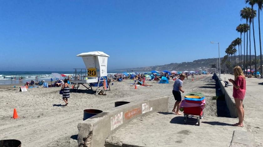 Casos de covid en San Diego a la baja