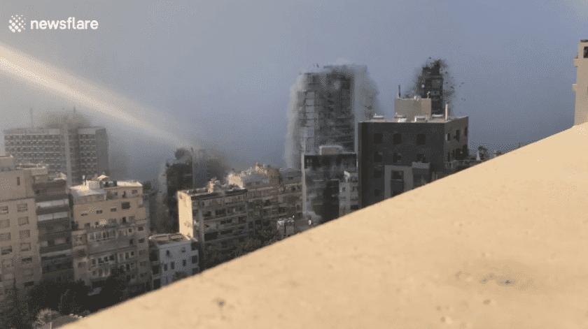 Las imágenes de Nemeth fueron capturadas en la terraza de su casa, en el piso 13 del edificio junto al Hospital St George, a solo 850 metros de la explosión.