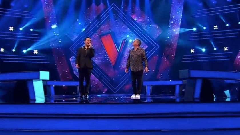 Christian Nodal y Ricardo Montaner dan uno de los mejores momentos de la noche en la transmisión de la Voz México.