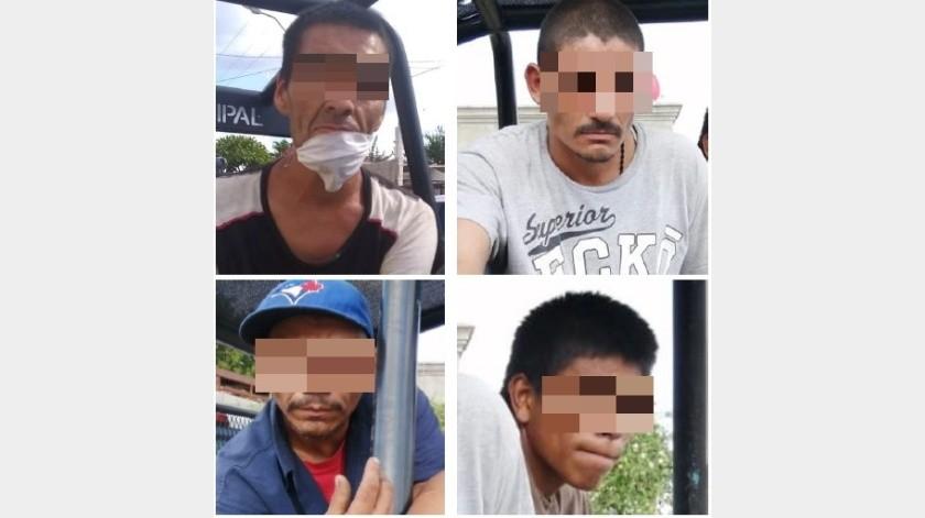 Detienen a individuos por presunto robo a bodega en colonia Villa Hermosa(Especial)