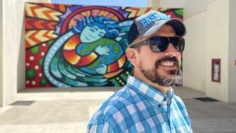 Jaime Carbó dijo que el boceto se creó a inicios de la pandemia, lo presentó el pasado mes de mayo e inició la gestión para el proyecto del mural.