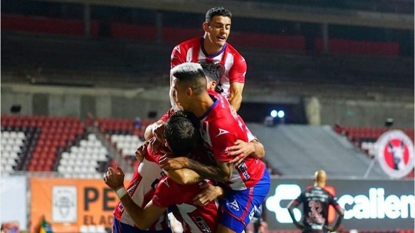 Atlético San Luis vencen en casa ajena a Xolos de Tijuana por 2-0(Instagram @atletidesanluis)