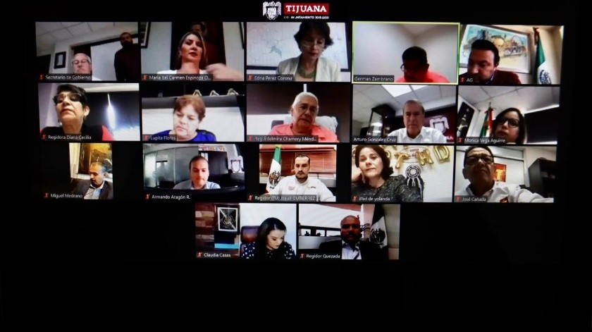 El Cabildo de Tijuana sesionó de manera virtual.(Cortesía)