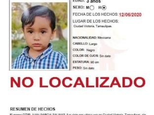 Alerta Amber, del niño Oziel Iván García Salinas
