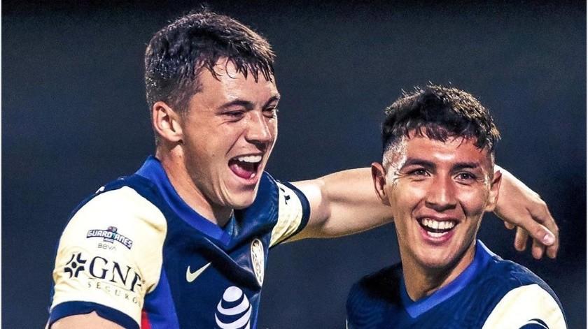 Águilas actuales lideres del Guard1anes 2020 tras derrotar al Santos por 3-1.(Instagram @clubamerica)