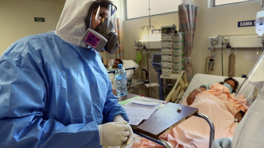 Actualmente son 30 los pacientes de covid-19 que son atendidos en el área de Urgenias de Adultos del Hospital General de Tijuana.(Sergio Ortiz)