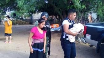 Mujer da a luz con ayuda de Guardia Nacional en la Y Griega, Caborca