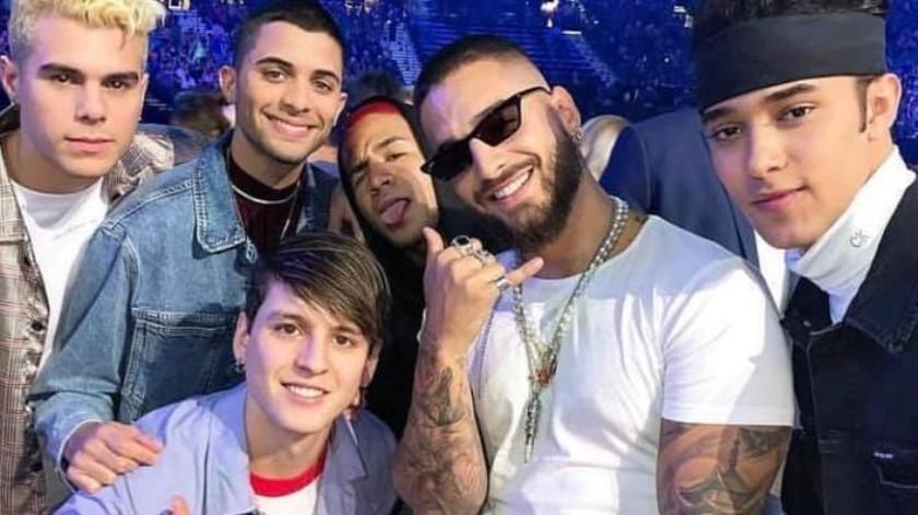 Maluma y CNCO pondrán la pauta latina en los premios MTV.(TOMADA DE LA RED.)