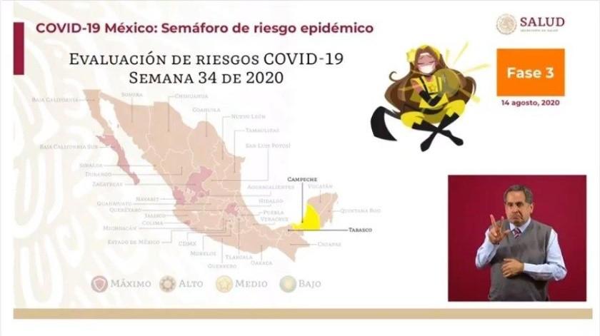 Semáforo Covid en México: Campeche, el primer estado en amarillo; Sonora sigue en naranja(Captura de video)