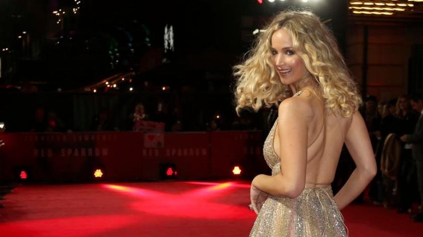 Jennifer Lawrence, en el estreno de 'Gorrión rojo' en Londres en 2018. JOEL C RYAN / AP(AP)