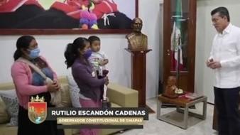 Tras rescate de Dylan, afirma gobernador que en Chiapas no hay impunidad