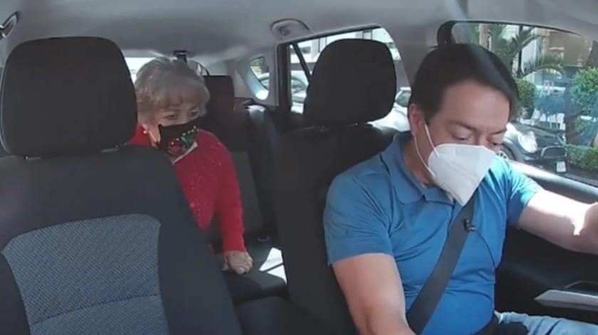 VIDEO: Finge diputado Mario Delgado ser taxista para escuchar a mexicanos(Captura de pantalla)