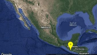 Se registra sismo magnitud 5.4 en Chiapas; fue perceptible en Guatemala