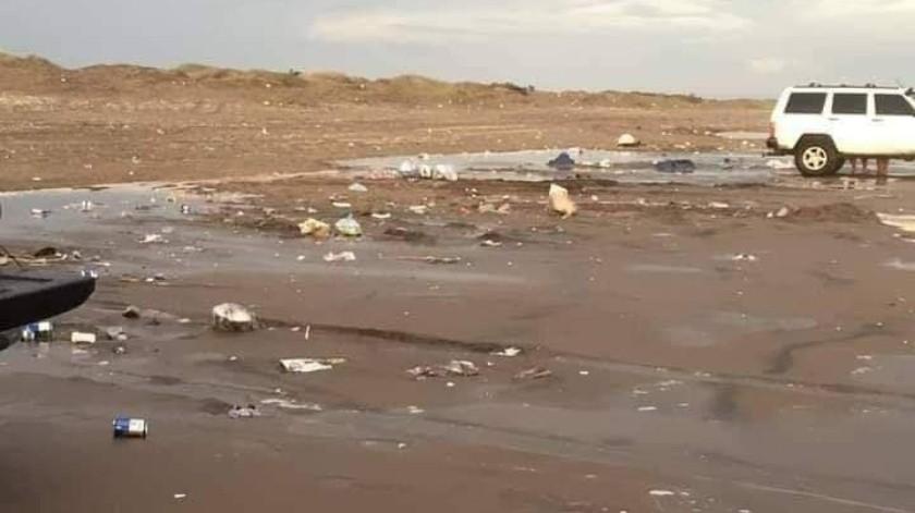 """Visitantes dejan """"cochinero"""" en playas de Bácum; llaman a cuidar espacios naturales(Especial)"""