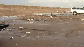 Visitantes dejan suciaslas playas de Bácum