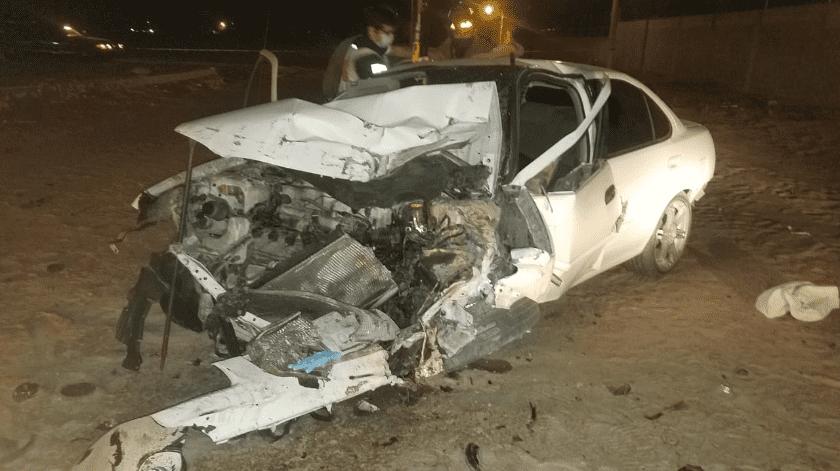 Muere joven tras choque, en SLRC(Cortesía)