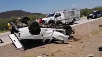 Vuelca y pierde la vida en carretera Guaymas-Obregón; iban de California a Guadalajara