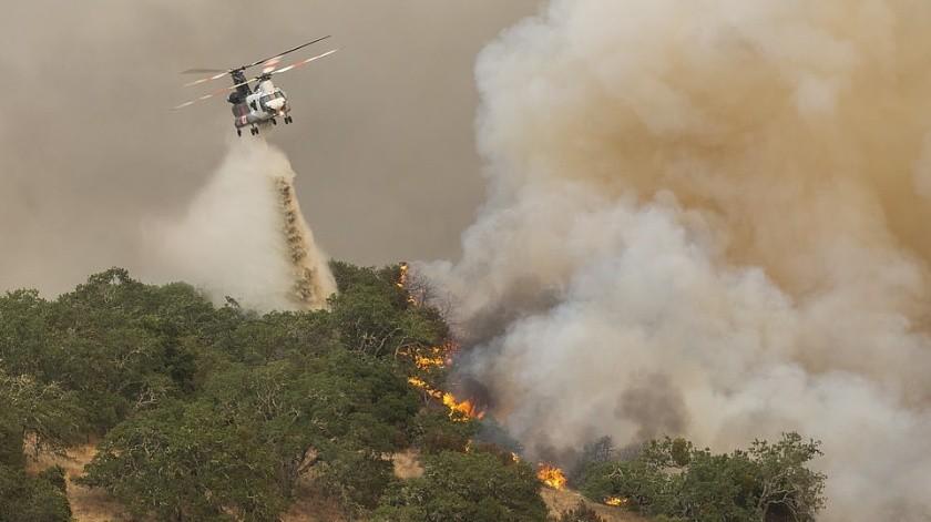 Muere piloto de helicóptero al combatir incendio en California tras choque(Especial)