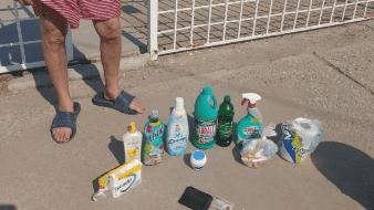 Arrestan a pareja por robar artículos de limpieza en SLRC