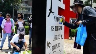 Instalan antimonumento en Paseo de la Reforma a diez años de masacre de San Fernando; sin justicia, dicen