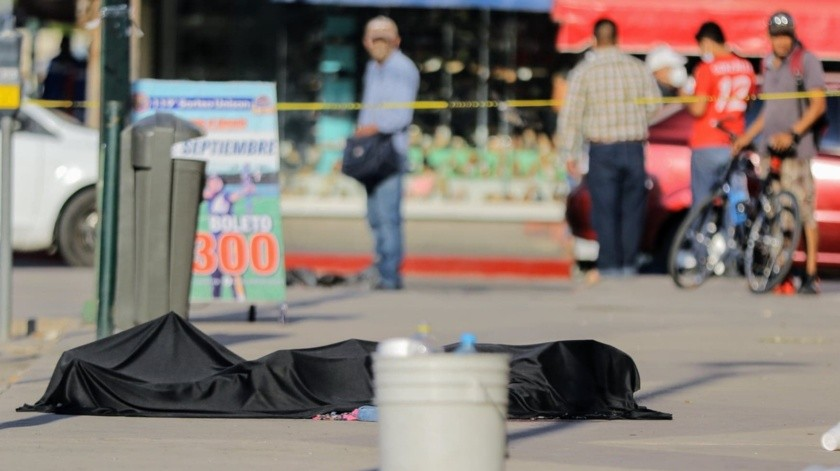 Reportan asesinato afuera del Mercado Municipal de Hermosillo