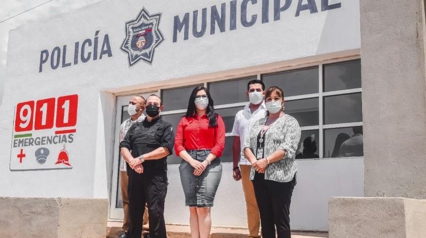 Seguridad Pública está estrenando instalaciones en Naco.(Banco Digital)