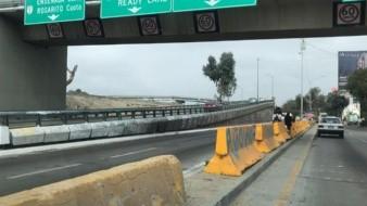 Así luce este lunes el acceso a la garita de San Ysidro desde la Vía Rápida Oriente.