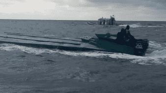 Intercepta Colombia submarino de CJNG con una tonelada de cocaína