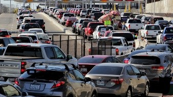 Horas de espera y nuevo cruce peatonal en Calexico