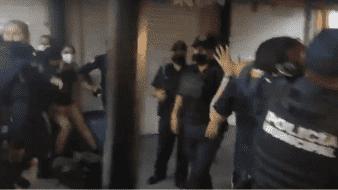 Condena CNDH agresiones de agentes de seguridadpública contra manifestación pacífica en León