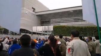 Bloquean integrantes de la Cooperativa Cruz Azul avenida Gran Sur