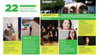 El programa virtual de aniversario incluye seis actividades virtuales a publicarse en plataformas digitales del miércoles 26 de agosto al viernes 28 de agosto y una más el 31 de agosto.