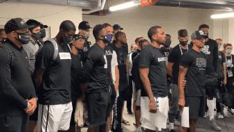 Los Bucks se dirigen ante la prensa para exigir justicia por Jacob Black
