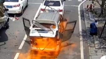 El incidente se originó por la explosión de un encendedor al momento en que el afectado estaba a punto de usarlo para fumarse un cigarrillo.