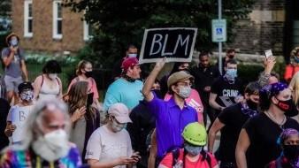 El sábado, los simpatizantes de Trump organizaron una manifestación en coche.