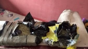 Localizan varios paquetes de droga durante un cateo