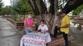 Eleazar Manuel Ceceña Borboa, ciudadano del municipio de Huatabampo informó que el módulo opera en la Plaza Juárez de dicha ciudad y juntarán firmas hasta el próximo 13 de septiembre.