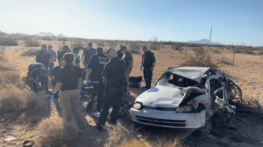 Cuatro heridos en choque sobre la Interestatal 8(Cortesía)
