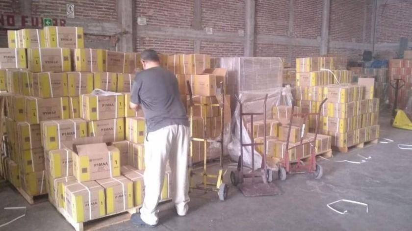 La entrega de libros de texto gratuitos continúa en el Estado.(Mayra Echeverría)