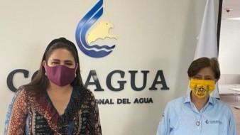 Célida López y David Colmenares Páramo, Auditor Superior de la Federación.