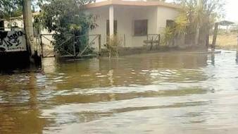 Vecinos de la colonia Palo Verde están enfadados de inundarse de aguas negras, o por fugas de agua potable.