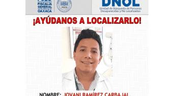 Conmociona desaparición de odontólogo de IMSS Oaxaca