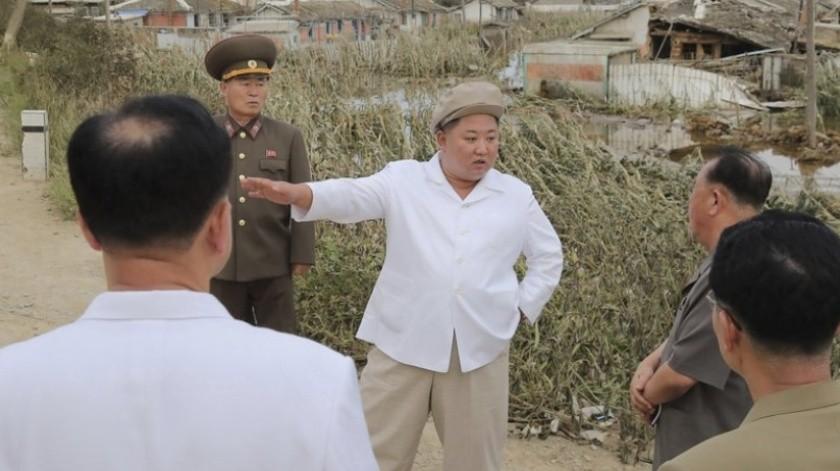 Kim Jong Un promete ayudas tras un dañino tifón en Corea del Norte(AP)