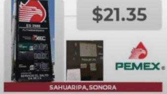 Sahuaripa, Sonora, entre los precios más elevados en gasolina.